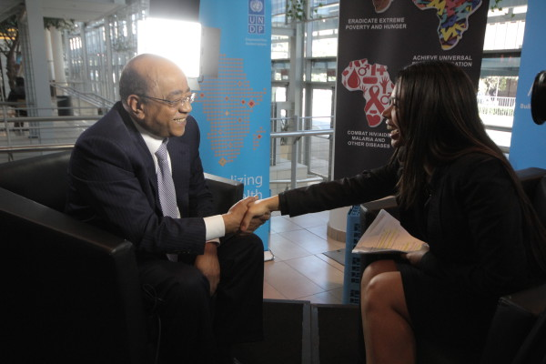 Interviewing Mo Ebrahim for 'Its Africas Time' at the World Econimic Forum 2013